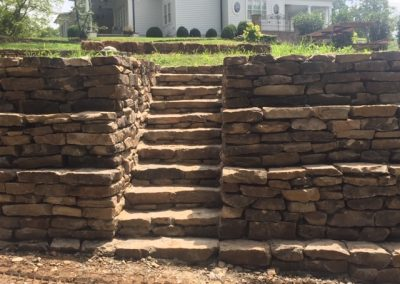 Custom Stone Wall and Steps