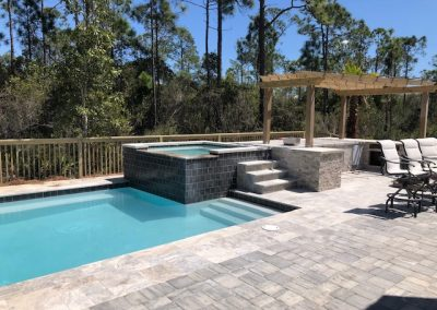Custom Outdoor Entertainment Hardscape and Pool
