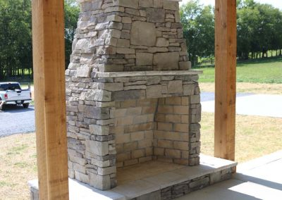 Custom Home Outdoor Fireplace