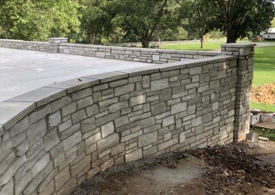 Custom Stone Wall & Outdoor Hardscape