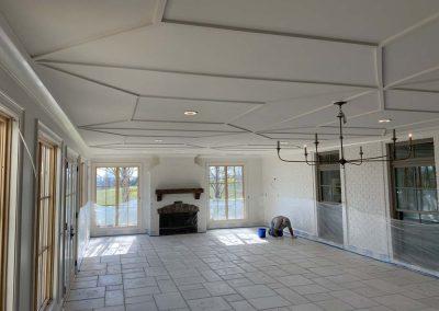 Custom Home Family Room w/ Stone Floor